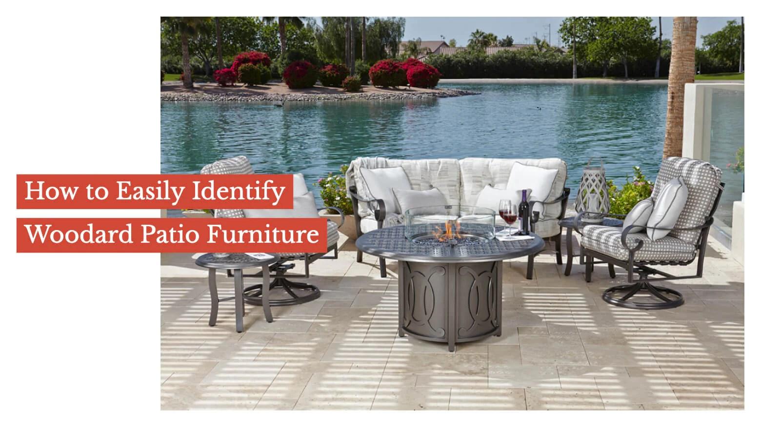 easily identify woodard patio furniture