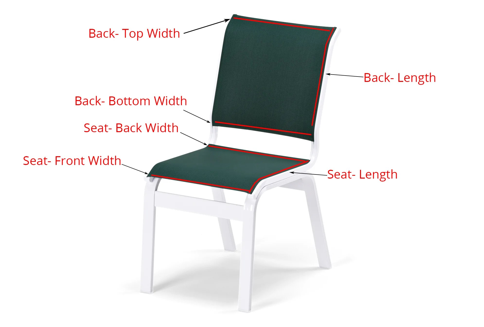 replacement chair slings white wood counter height chairs 2 piece custom sling item ccs 2pc sunniland