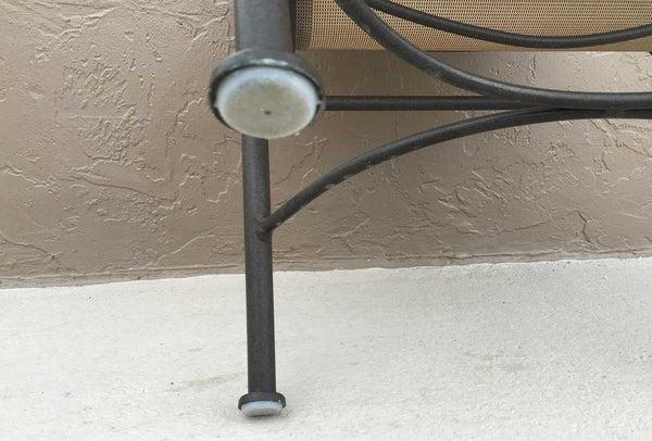 1 12 Deluxe Wrought Iron Chair Glide Black Item 30 612B Sunniland Patio Patio