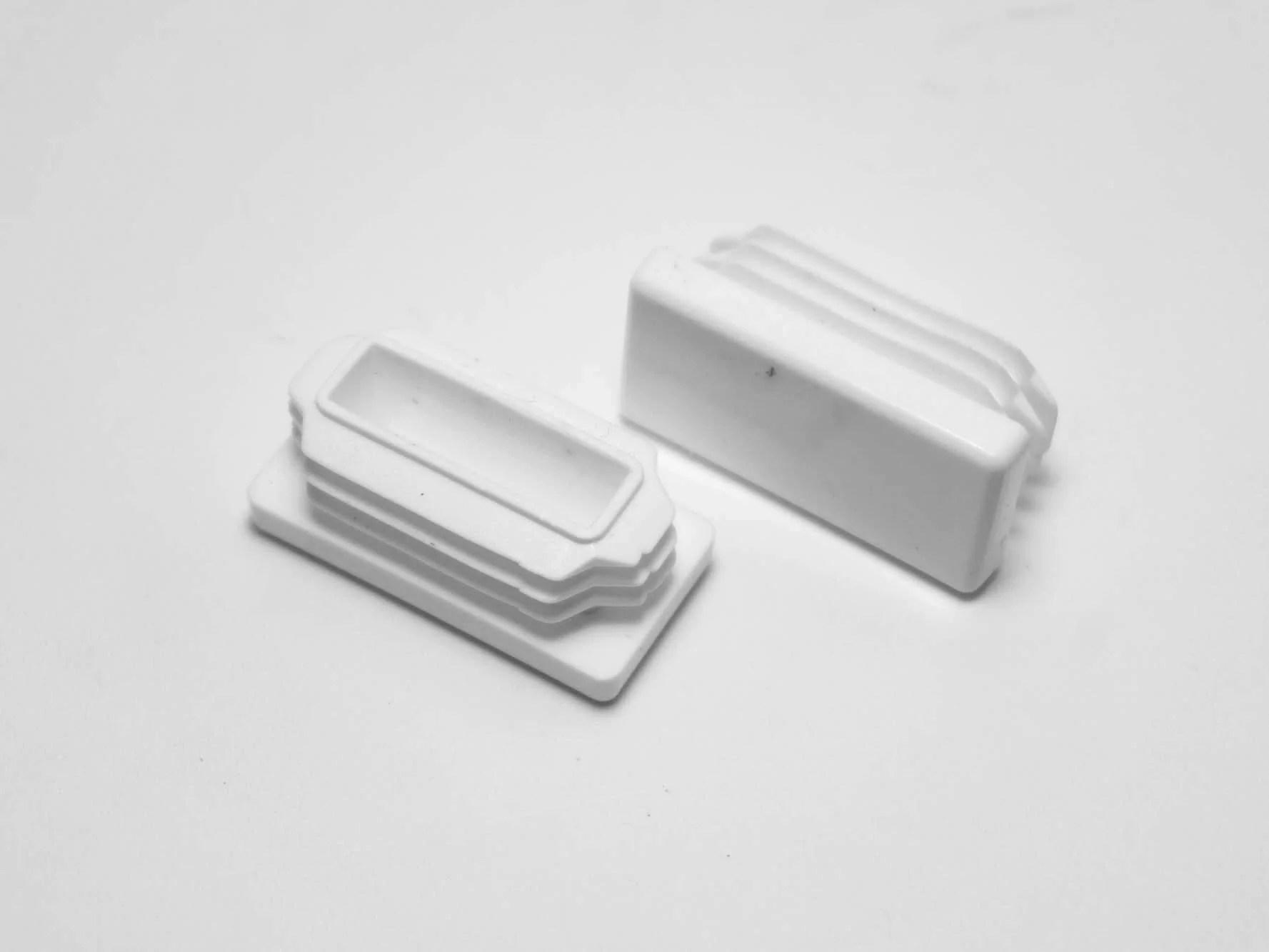 1 1 2 x 3 4 rectangular multi gauge chair leg insert white item 30 616