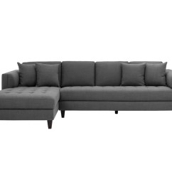 Grey Tweed Sectional Sofa Seats And Sofas Berlin Erfahrung Archie Fabric Chaise Laf