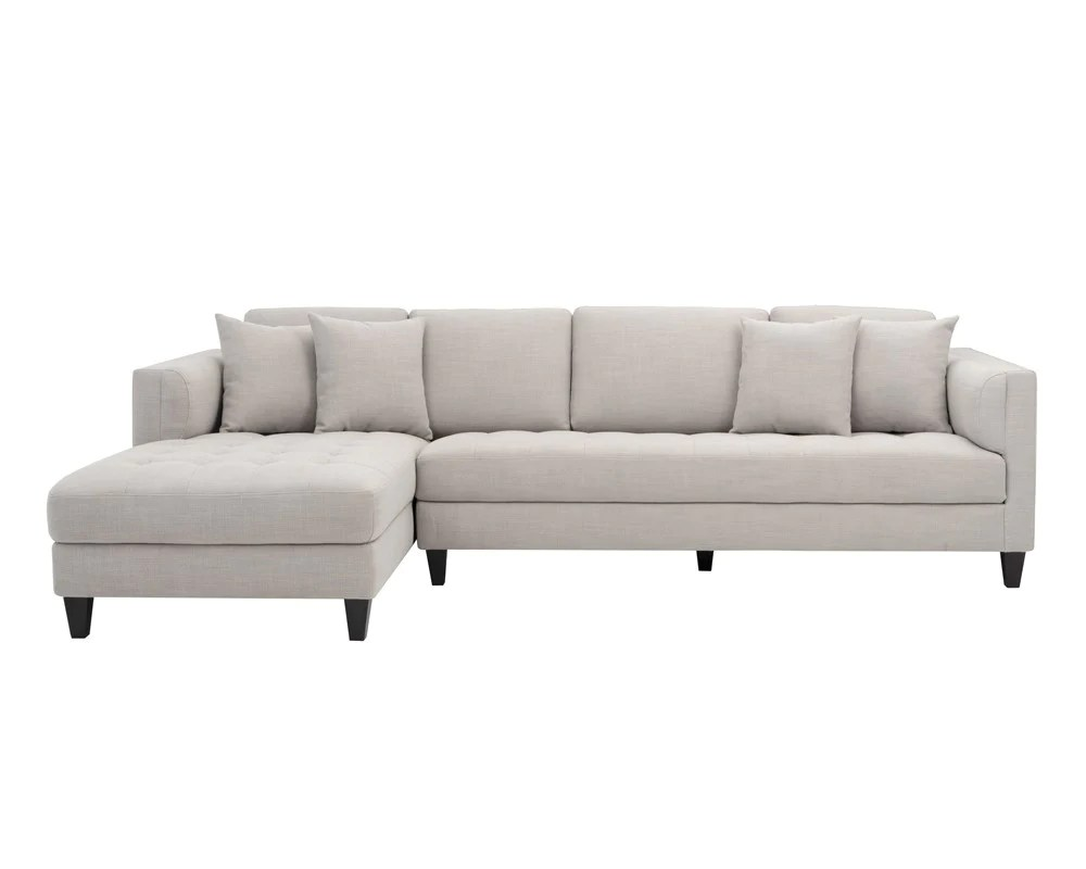 grey tweed sectional sofa canada archie beige fabric chaise laf