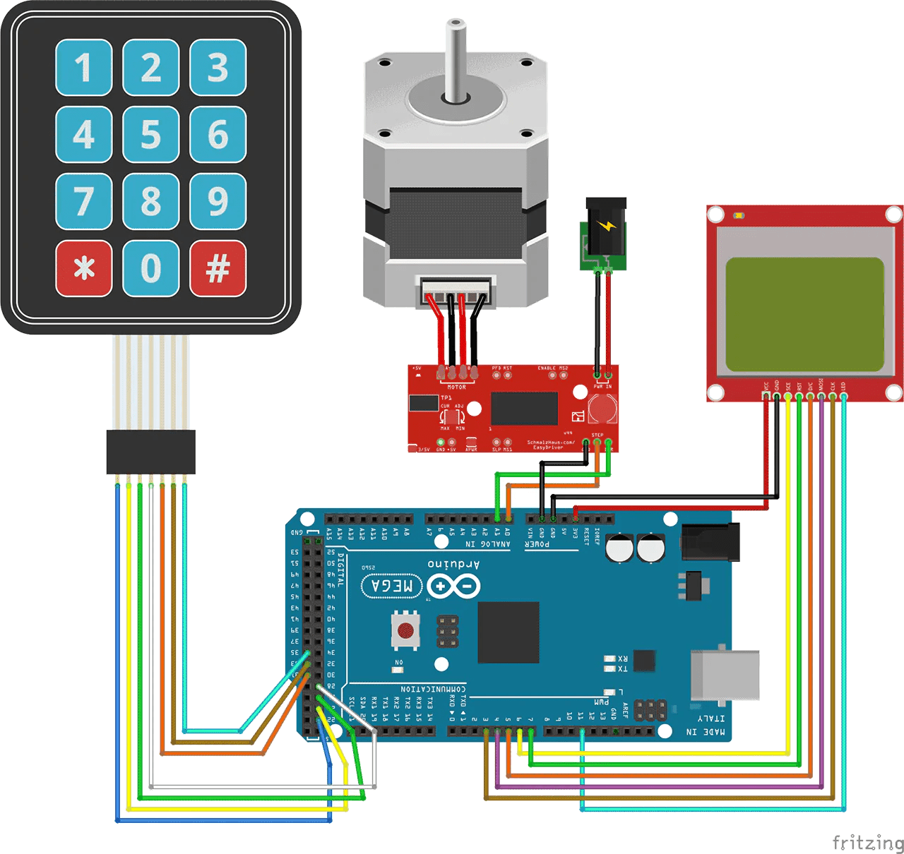 control a stepper motor with an arduino and keypad [ 1280 x 1210 Pixel ]