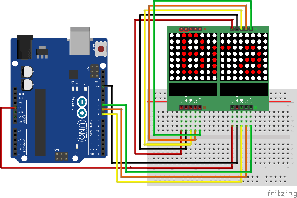 Scroll text using MAX7219 LED Dot Matrix – BrainyBits