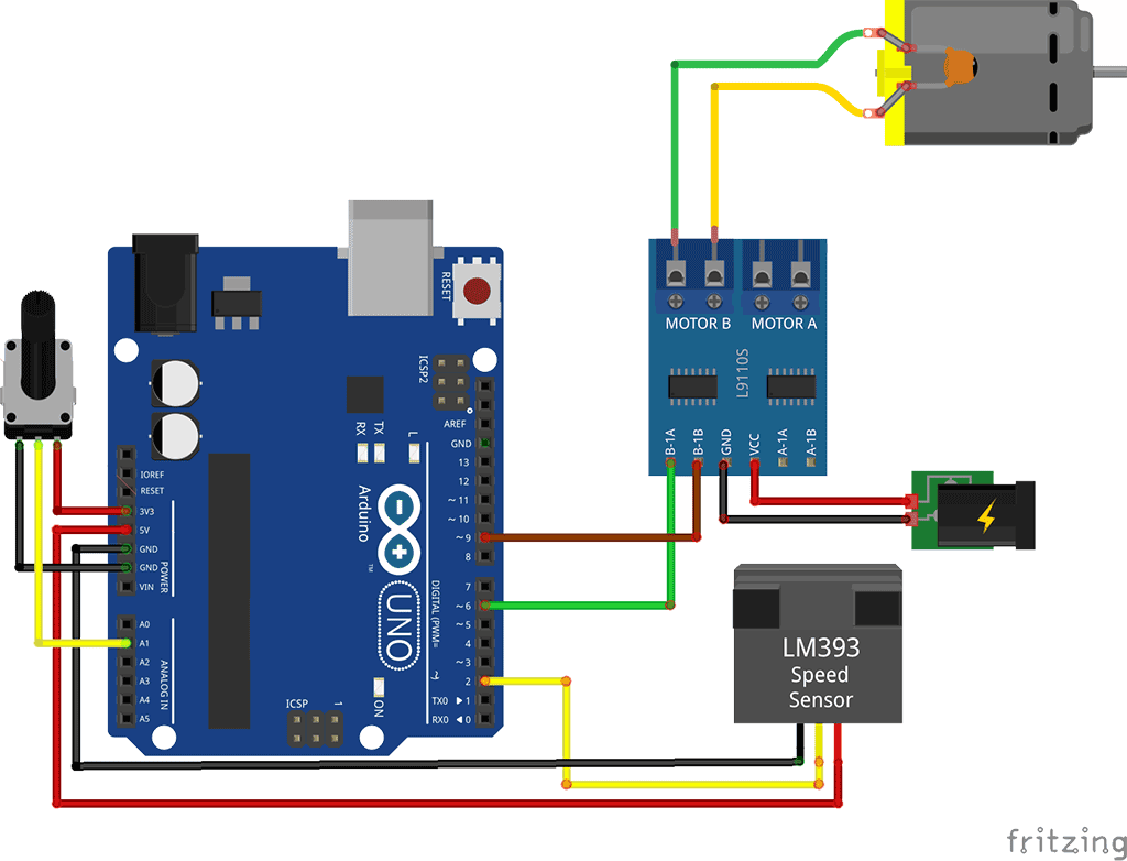 Anemometer Wiring Diagram How To Use A Speed Sensor With Arduino Brainy Bits