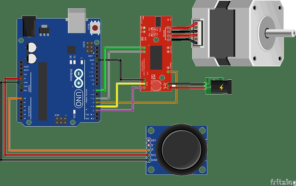 encoder wiring diagram 2005 kia sedona cooling fan control a stepper motor using joystick and arduino – brainy-bits
