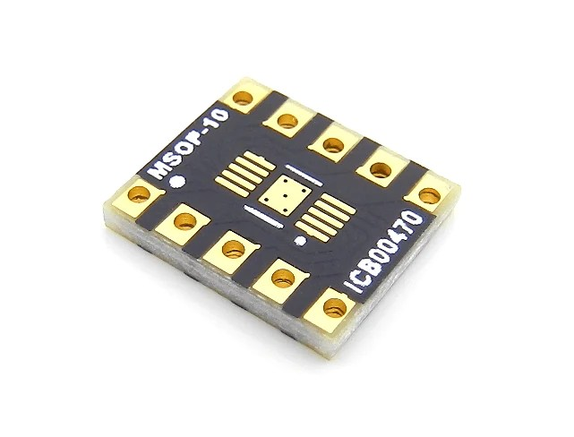 MSOP10 Breakout Board 31 x 31 mm 05 mm