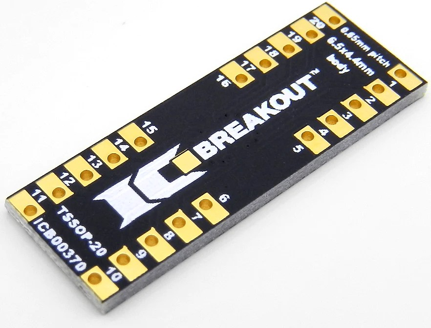 TSSOP20 Breakout Board 65x44mm 065mm  IC Breakout LLC