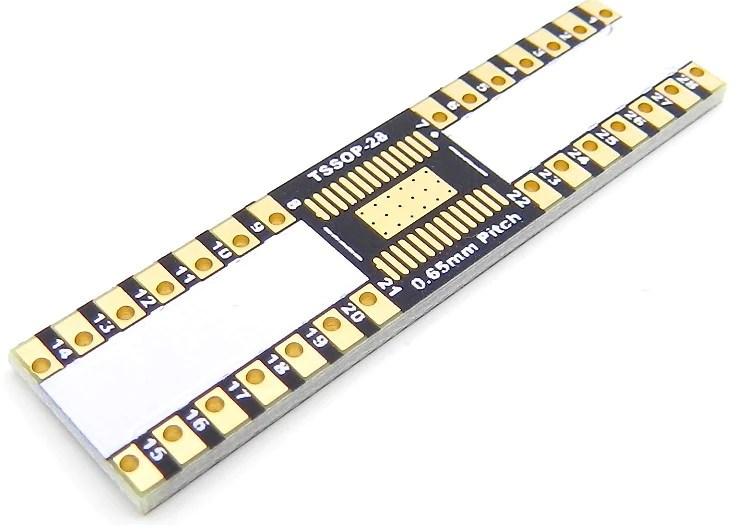 TSSOP28 Breakout Board 44 x 97 mm 065 mm  IC