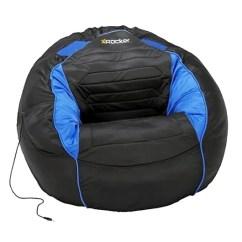 Rocking Bag Chair Roman Workout Routine Black And Blue Kahuna Bean With Sound 5138301 X Rocker