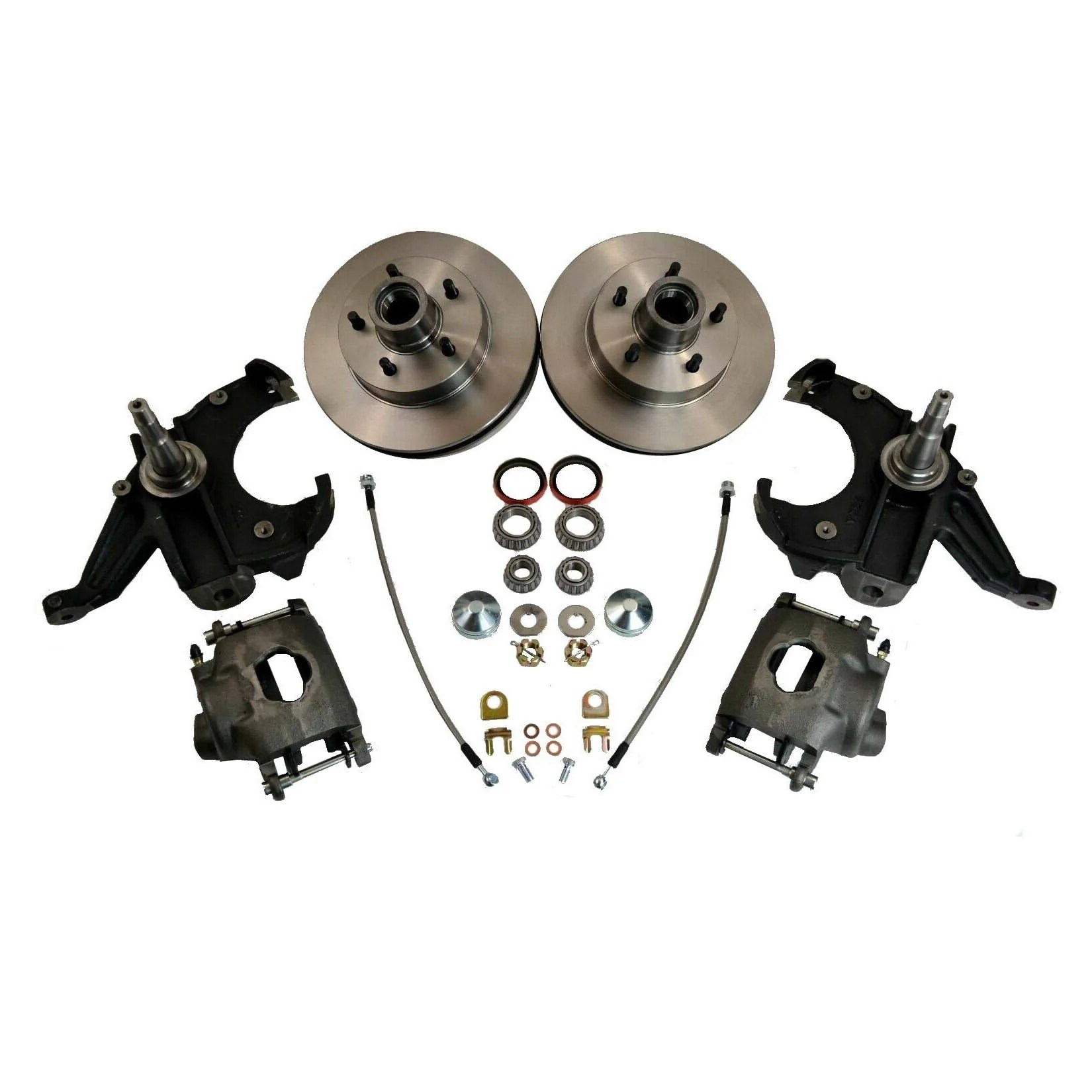 small resolution of chevrolet gm c10 c15 truck 1963 70 disc brake conversion 2 5 drop spindles 5 lug