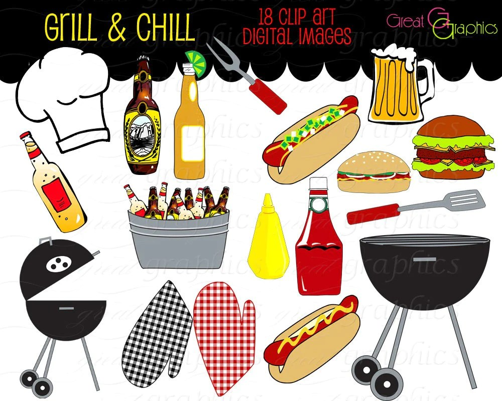 party clipart backyard bbq clip art cooking clipart printable bbq grill chef clipart beer clip art [ 1000 x 800 Pixel ]