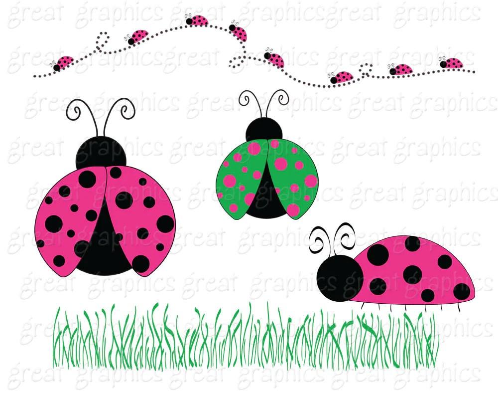 ladybug clipart pink