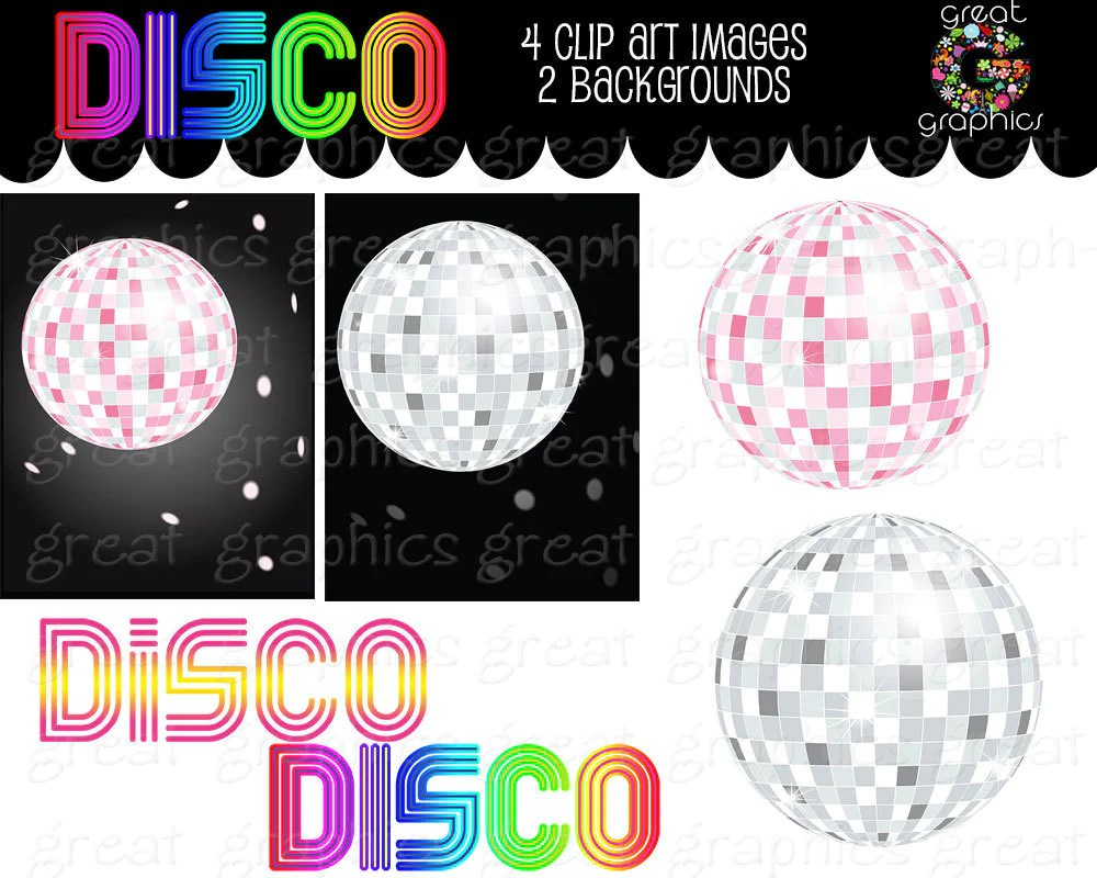 medium resolution of disco ball digital clip art disco party retro clipart dance clipart 70s disco party clipart digital