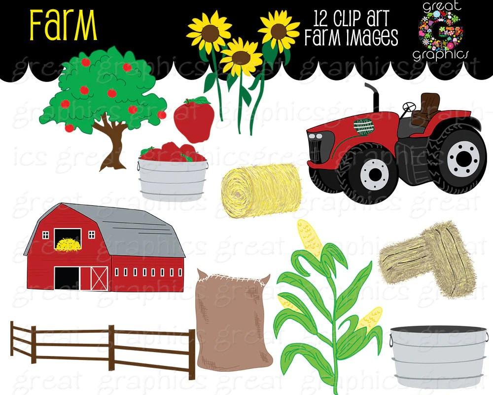 farm clipart fall festival apple digital farm clip art red tractor clipart printable sunflower red barn [ 1000 x 800 Pixel ]