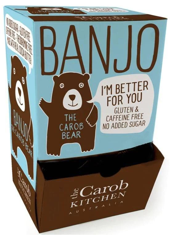 The Carob Kitchen Banjo Bear  Carob 50 x 15g  LYFE