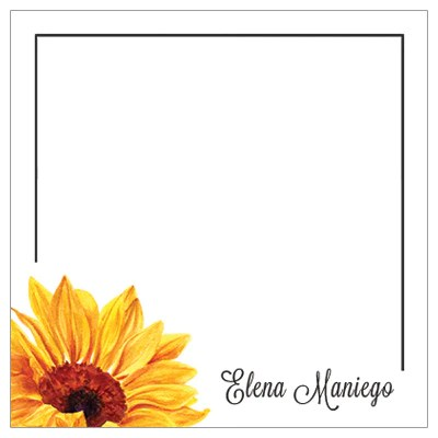 sunflower themed gift tag