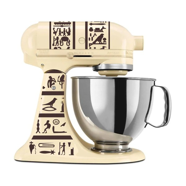 kitchen aid mixers outdoor diy heiroglyphics themed vinyl decal for kitchenaid mixer 4 quart and more azvinylworks