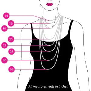 Men   standard necklace sizes also size chart goldennycjewelry rh
