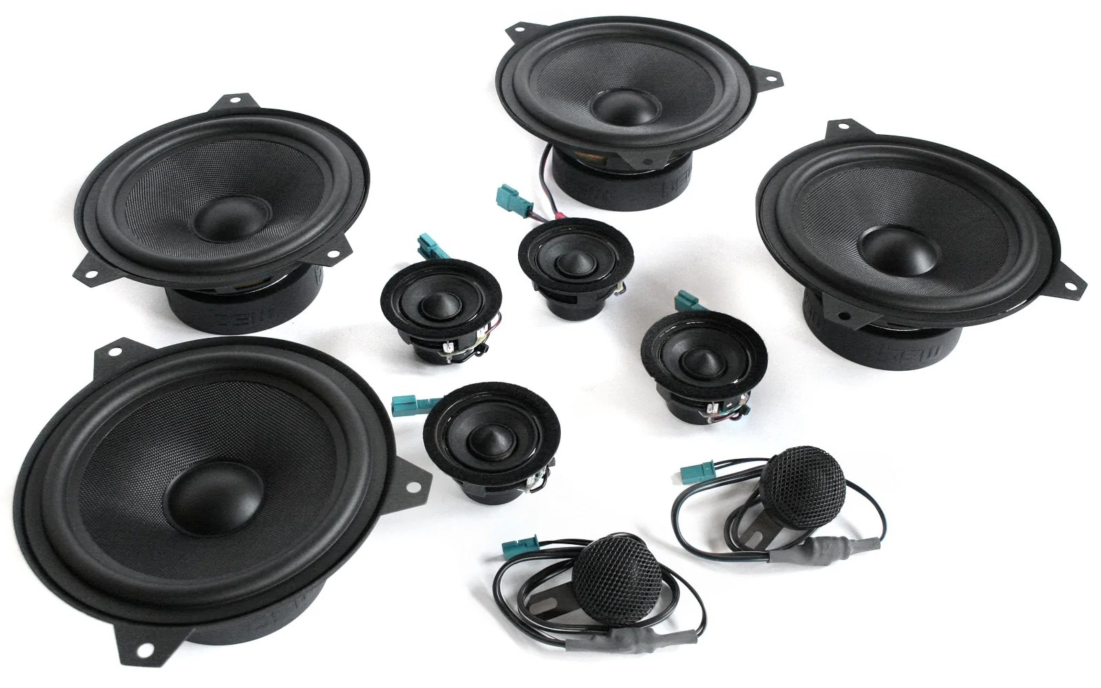 stage one bmw speaker upgrade for e46 sedan wagon with standard hi fi [ 1600 x 1000 Pixel ]