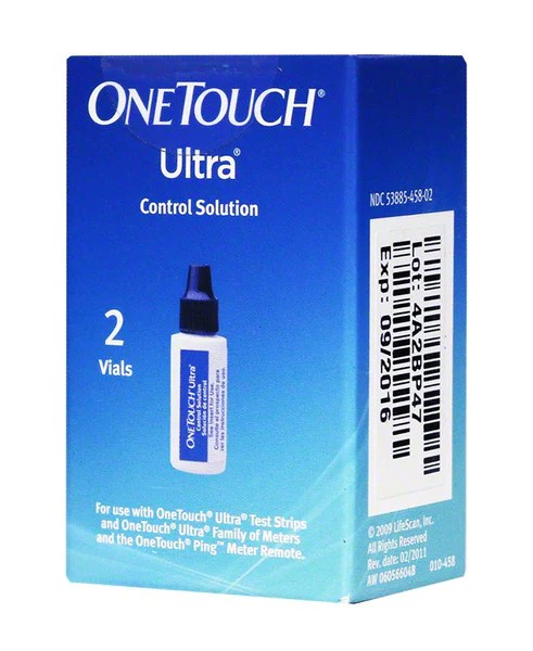 OneTouch Ultra Control Solution - 2 Vials   Diabetic Warehouse