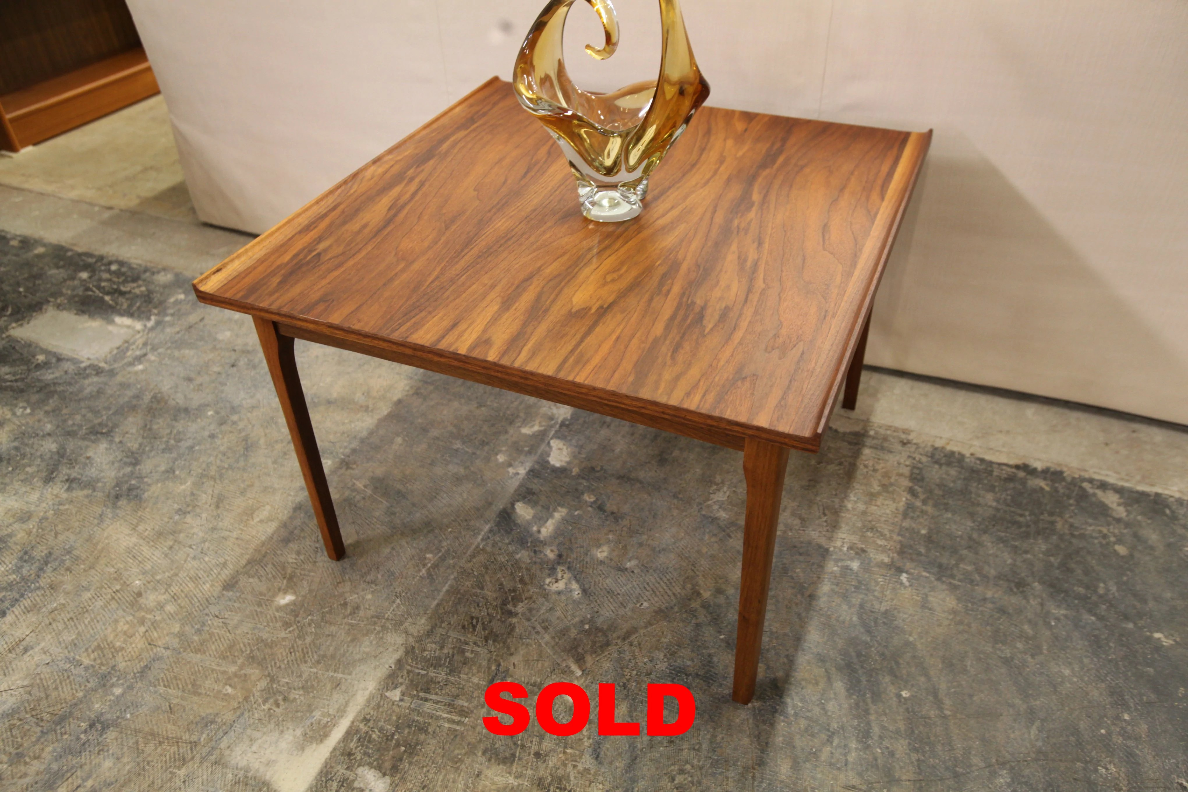 vintage afromosia square teak coffee table 30 x 30 x 20 h
