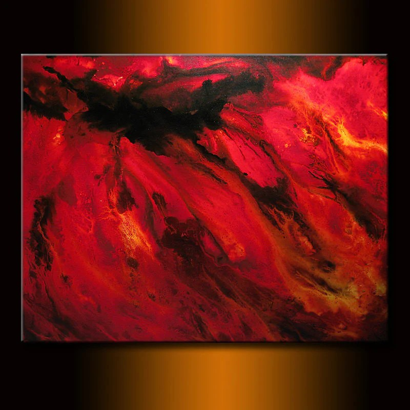 modern red black abstract