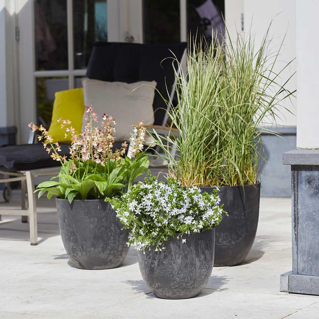 black grey outdoor planters quality