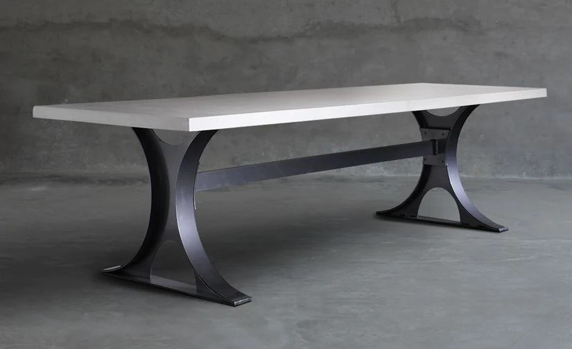 hourglass outdoor dining table