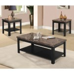 3 Piece Marble Coffee Table Set By Home Source Cassabela