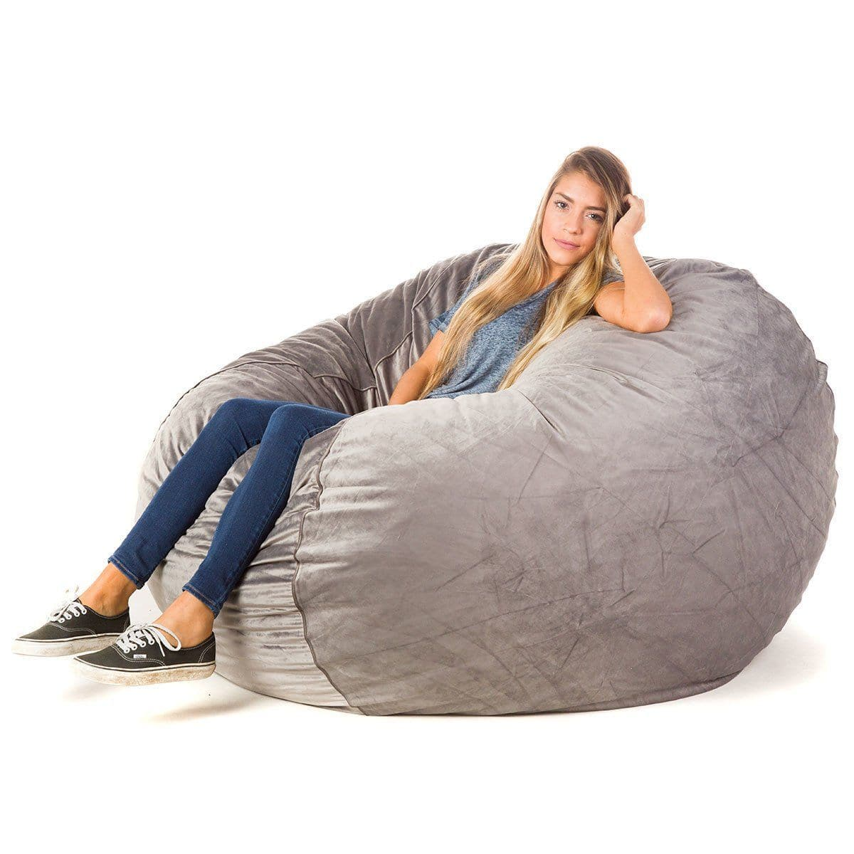 bean bag chairs white porch cordaroy s convertible bags there a bed inside posh product details