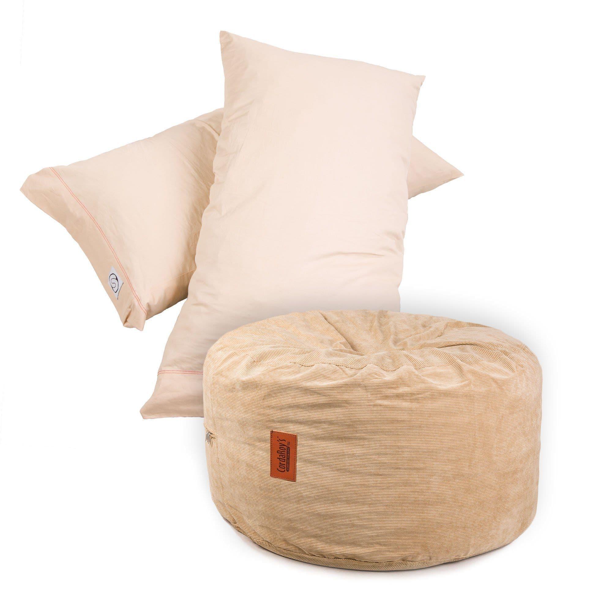 pillow pod footstools corduroy
