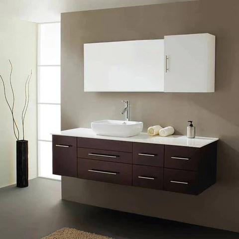 wall mount floating bathroom vanities