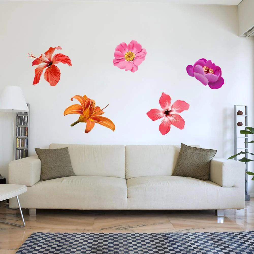 Surfboard hibiscus flowers vinyl wall art decal sticker xinch hibiscus flower izmirmasajfo