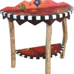 Half Round Hall Table D78079 Sticks Handmade