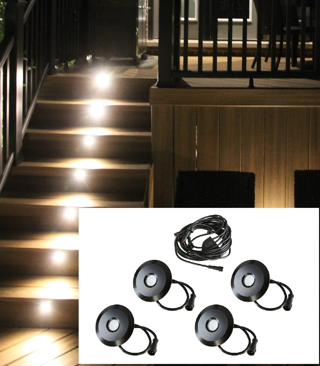 led outdoor recessed lights kit 4