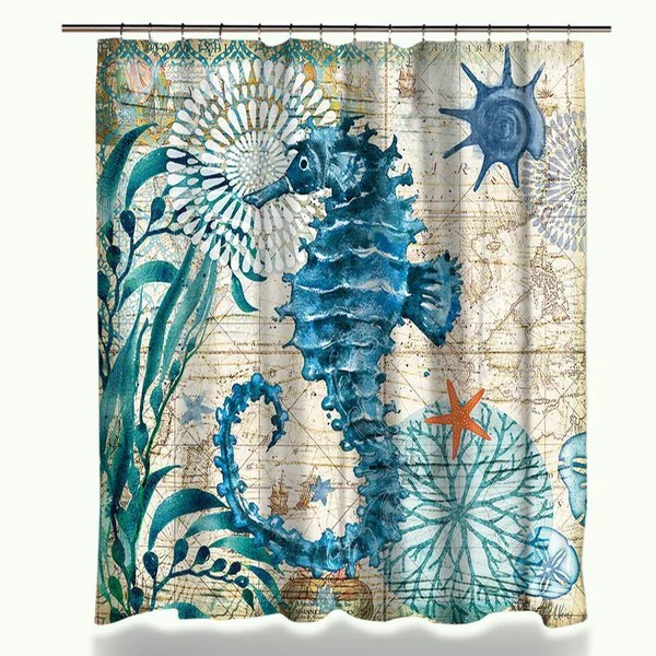 Sea Life Shower Curtain  My Turtle And I