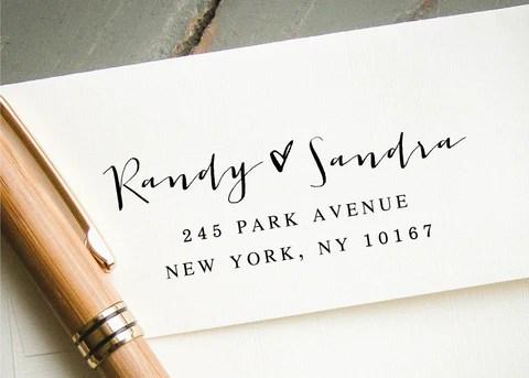 pre inked return address