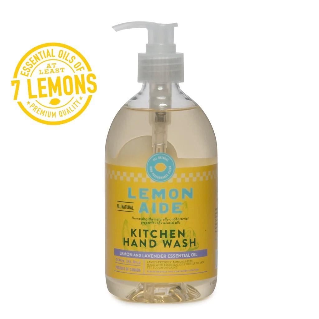 kitchen hand soap vintage cabinet hardware lemon aide natural wash with essential oils maison apothecare