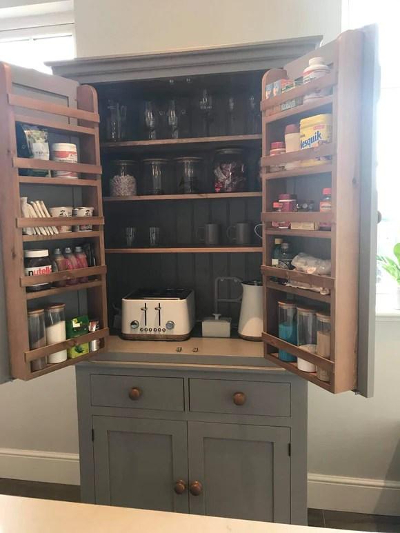 Larder Pantry Kitchen Cupboard Cheshire Pine And Oak