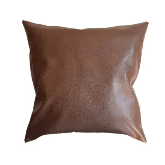camel leather throw pillow online