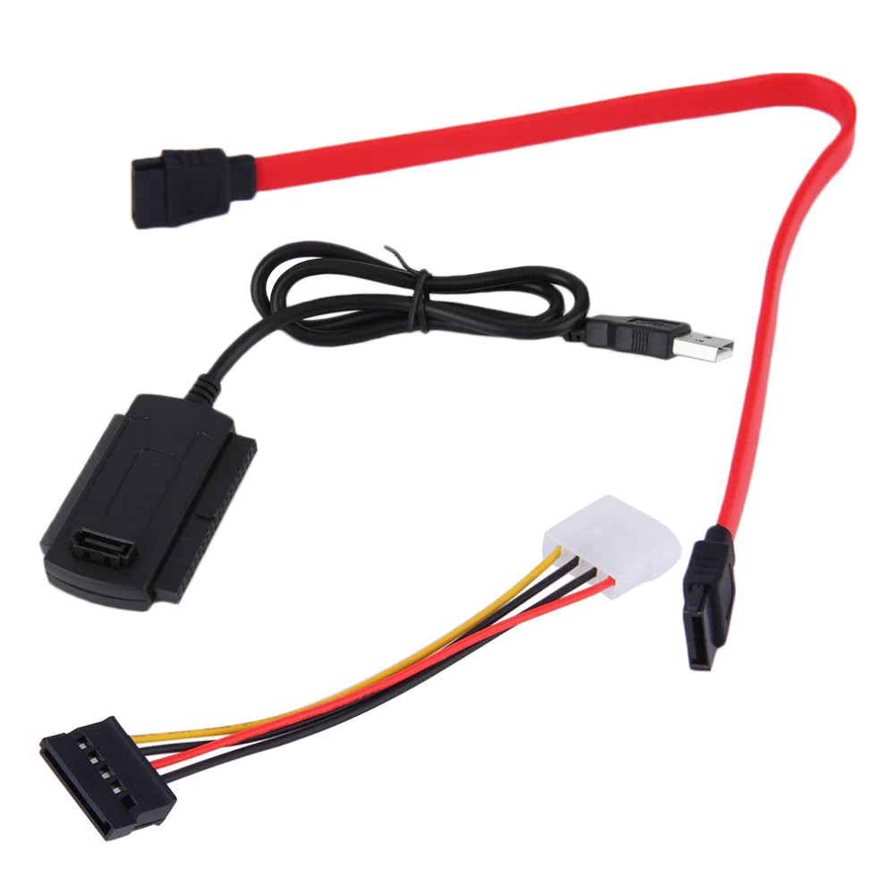 sata pata ide drive to usb 2 0 adapter converter cable for 2 5 3 5 inch hard drive [ 1000 x 1000 Pixel ]