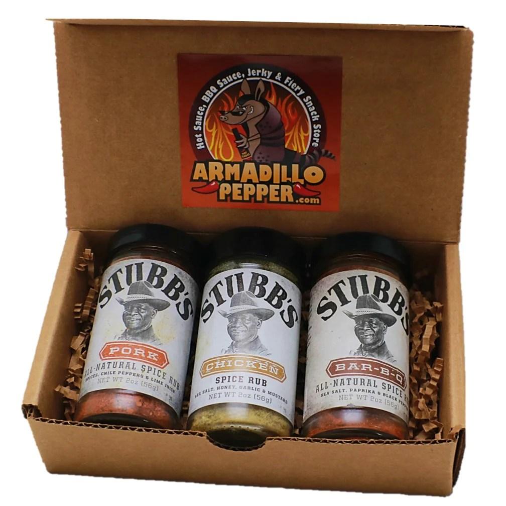 Stubb' Bbq Rub Set Armadillo Pepper