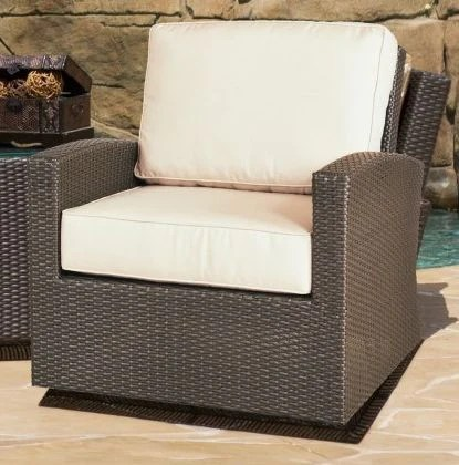 wicker swivel patio chair toddler girl cabo outdoor glider furniture clover home sets chairs