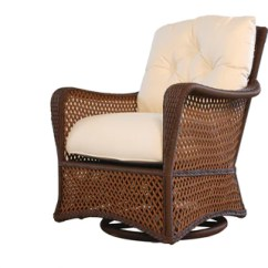 Wicker Swivel Patio Chair Baby Play Grand Traverse Outdoor Glider Furniture Sets Chairs