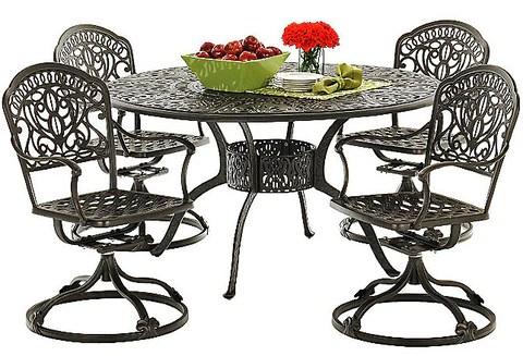 tuscany outdoor cast aluminum dining