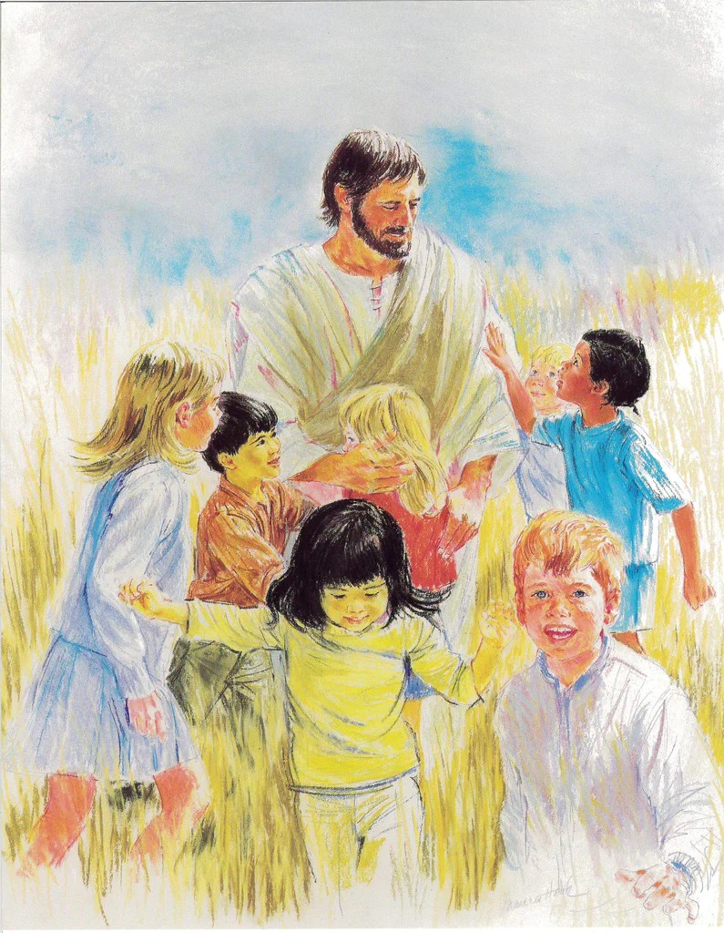 Jesus With The Children Print National Shrine Of St Dymphna