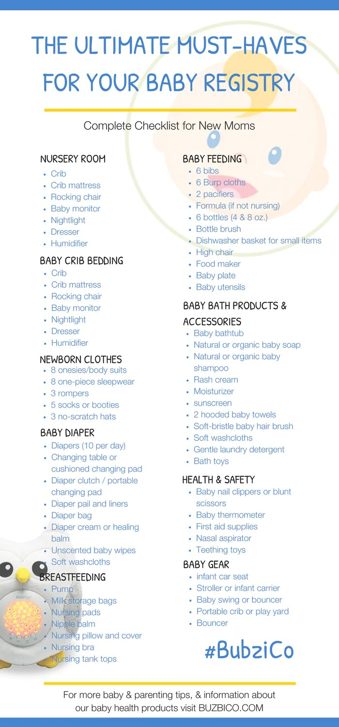 Must-Have First Baby Registry: The Complete Checklist for New Moms ...