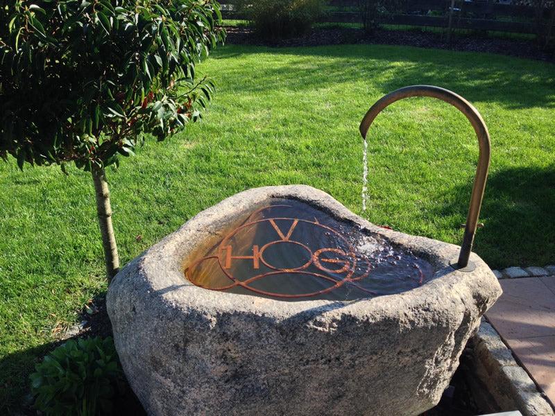Die schnsten Gartenbrunnen  Steinbrunnen  Granitbrunnen