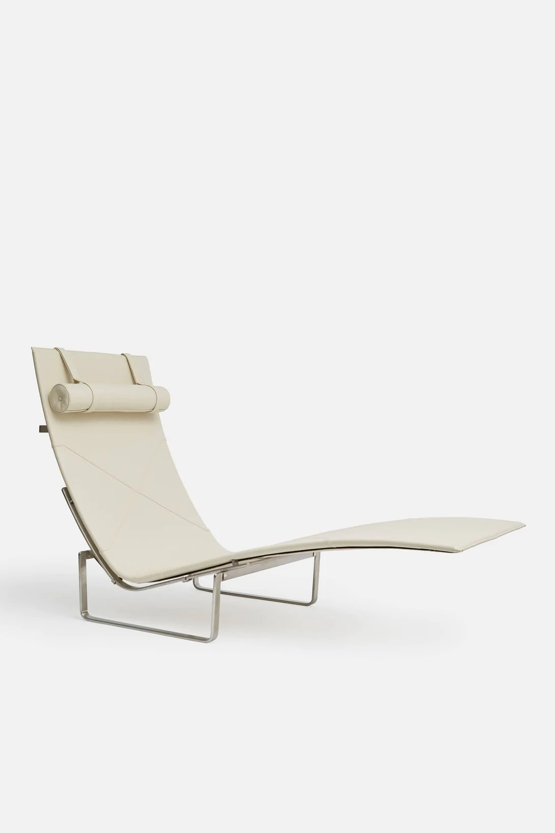 white chaise chair pool floating lounge pk24 leather  the line